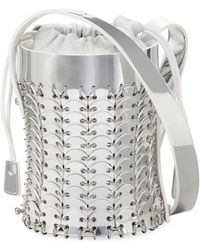 Paco Rabanne | 1401 Chain-link Mini Mirrored Leather Bucket Bag | Lyst