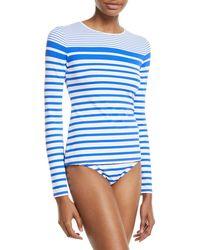 34694945895f1 Lyst - Mermaid Maternity Long Sleeve Rashguard Swim Shirt in Blue