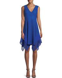 10 Crosby Derek Lam - V-neck Sleeveless Pieces Lace Dress - Lyst