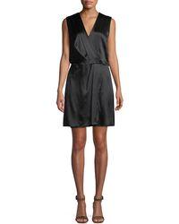 Rag & Bone - Victor Sleeveless Silk Wrap Dress - Lyst
