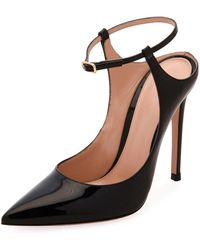 Gianvito Rossi - Pointed-toe Ankle-strap Pumps - Lyst