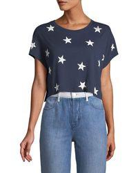 Splendid - Liberty Star Crop Tee - Lyst