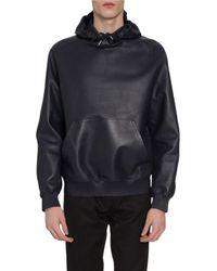 Berluti Men's Leather Sweatshirt - Blue