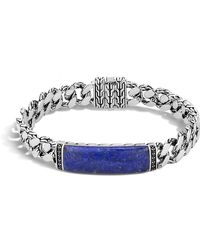 John Hardy - Gourmette Classic Chain Men's Bracelet With Lapis - Lyst