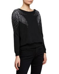 Ba&sh - Flore Pullover Sweater With Crystal Accents - Lyst