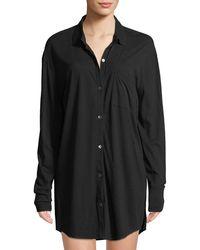 Skin - Kiana Button-front Organic Cotton Sleepshirt - Lyst