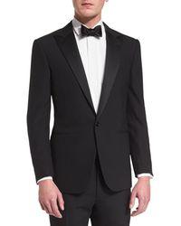 Ralph Lauren - Anthony Peak-lapel One-button Wool Tuxedo Black - Lyst