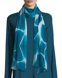 Eileen Fisher - Spatial Silk Shibori Scarf - Lyst