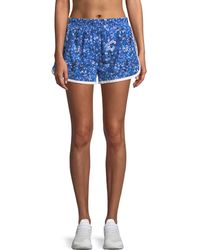 Tory Sport - Floral-print Pull-on Running Shorts - Lyst