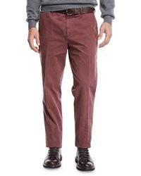 Brunello Cucinelli - Men's Cotton Flat-front Pants - Lyst
