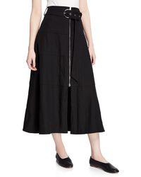 Partow - Amira High-waisted Belted Skirt - Lyst