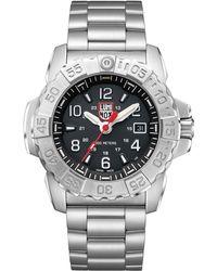 Luminox - Men's Navy Seal Bracelet Watch Silver - Lyst