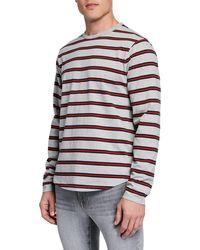 FRAME - Men's Striped Long-sleeve T-shirt - Lyst
