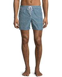 Kiton | Waves Pattern Swim Trunks | Lyst