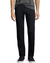 J Brand | Kane Cotton-linen Straight-leg Jeans | Lyst
