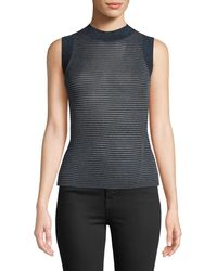 Rag & Bone - Raina Slim Ribbed Crewneck Tank Top - Lyst