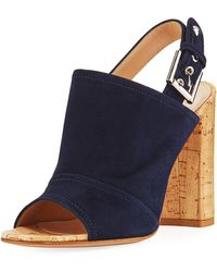 Gianvito Rossi - Marcy Suede Slingback Sandal - Lyst