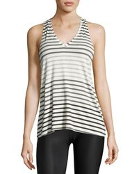 Beyond Yoga - Bring It Ommmbre Striped Racer Tank Top - Lyst