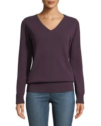 Neiman Marcus - Cashmere Relaxed V-neck Sweater - Lyst