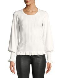 Parker - Henri Ribbed Bishop-sleeve Sweater - Lyst