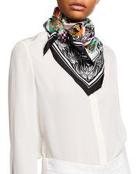 Versace - Silk Alphabet Scarf White - Lyst
