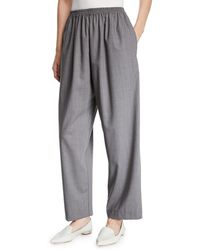 Eskandar - Tasmanian Mini-plaid Wool Trousers - Lyst