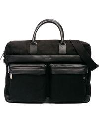 Hook + Albert - Canvas Casual Briefcase Black - Lyst