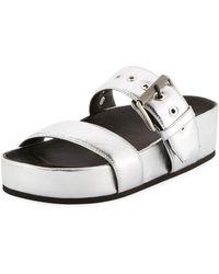 Rag & Bone - Evin Metallic Platform Sandal - Lyst