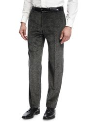 Zanella - Donegal Plaid Corduroy Pants - Lyst