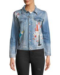 Etienne Marcel - Embroidered Denim Jacket - Lyst