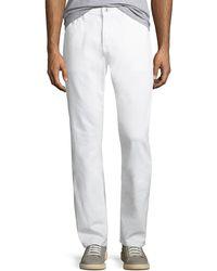 AG Jeans - Men's Everett Slim-straight Jeans In White - Lyst