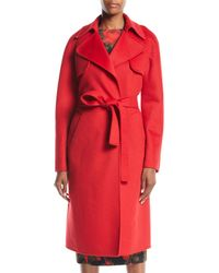 Michael Kors - Double-face Cashmere Melton Trench Robe Coat - Lyst