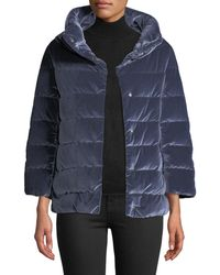 Herno - Velvet Quilted Down Jacket - Lyst