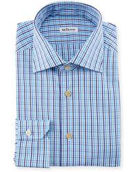 Kiton - Multi-check Dress Shirt - Lyst
