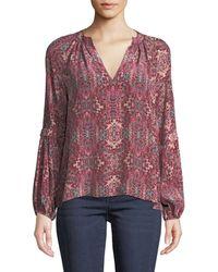 Nanette Lepore - Hideout Long-sleeve Top In Silk - Lyst