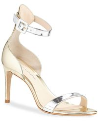 209535063f5 Jimmy Choo Falcon Mixed Satin/suede Sandals in Red - Lyst