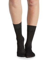 Spanx - Gold Shimmer Opaque Half-calf Socks - Lyst