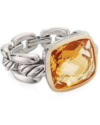 David Yurman Wellesley Link Citrine Ring - Orange