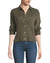 Current/Elliott - The Tella Pintucked Button-front Shirt - Lyst