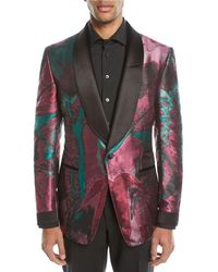 Tom Ford - Oil-pattern Silk Dinner Jacket - Lyst