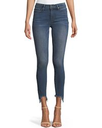PAIGE - Verdugo Skinny Ankle Jeans With Torn Fray Hem - Lyst