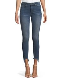 PAIGE - Verdugo Skinny-leg Ankle Jeans With Torn Fray Hem - Lyst