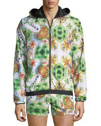 Versace - Miami-print Zip-front Jacket - Lyst