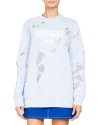 Givenchy - Destroyed Logo Pullover Sweatshirt - Lyst