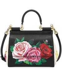 834ca4263772 Dolce   Gabbana - Sicily St. Dauphine Small Roses Shoulder Bag - Lyst