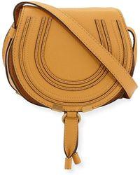 8bd9d8f1f9 Chloé Marcie Pouchette Crossbody Bag in Blue - Lyst