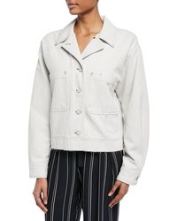 Vince - Cropped Button-front Utility Jacket - Lyst