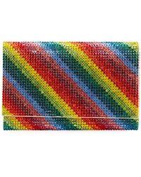 Judith Leiber - Fizzy Rainbow Crystal Full-beaded Clutch Bag - Lyst