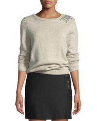 Ba&sh - Ourea Embellished Boat-neck Wool Sweater - Lyst