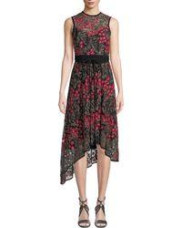 Nanette Lepore - Charmer A-line Dress W/ Floral Overlay - Lyst